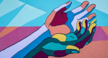 mural of variety of people